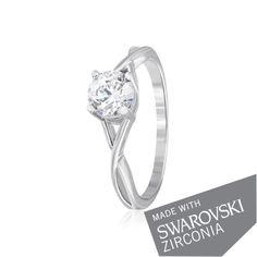 Акция на Серебряное кольцо с цирконием SWAROVSKI ZIRCONIA К2С/862 - 18 от Allo UA