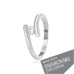 Акция на Серебряное кольцо с цирконием SWAROVSKI ZIRCONIA К2С/861 - 17,5 от Allo UA