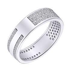 Акция на Серебрянное кольцо родированное - КК2Ф/2049-16,5 от Allo UA
