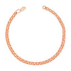 Золотой браслет в плетении бисмарк 000103615 17 размера от Zlato