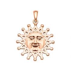 Кулон-солнце из красного золота 000130896 от Zlato
