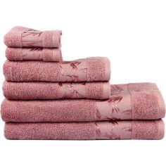 Акция на Полотенце махровое Maisonette Bamboo темно-розовое  размер 76x152cм от Podushka