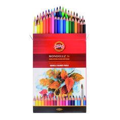 Акция на Карандаши цветные аквар. Koh-i-noor Mondeluz 36 цв. 3719036001KZ от Podushka