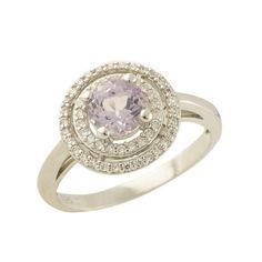 Акция на Серебряное кольцо GS с натуральным аметистом (0438719) от Allo UA