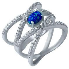 Серебряное кольцо GS с опалом (1921500) 17.5 размер от Allo UA