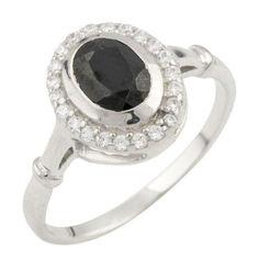 Акция на Серебряное кольцо GS с натуральным сапфиром (0468518) 18 размер от Allo UA