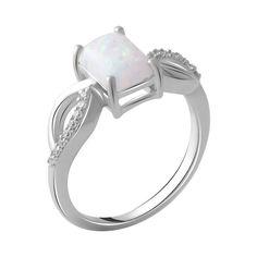 Акция на Серебряное кольцо GS с опалом (2049753) 17 размер от Allo UA