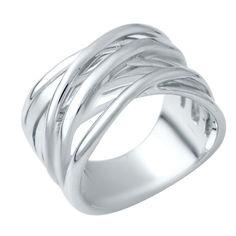 Акция на Серебряное кольцо GS без камней (1941126) 18.5 размер от Allo UA