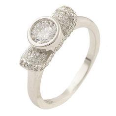 Акция на Серебряное кольцо GS с фианитами (0534435) 18 размер 3.44, 16 от Allo UA