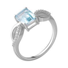 Акция на Серебряное кольцо GS с натуральным топазом (2049227) 18.5 размер 2.73, 17.5 от Allo UA