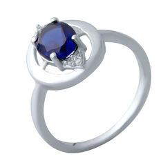 Серебряное кольцо GS с сапфиром nano (2021919) 18 размер 2.16, 18.5 от Allo UA