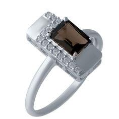 Акция на Серебряное кольцо GS с натуральным раухтопазом (димчатим кварцем) (2025634) 18 размер 2.08, 17.5 от Allo UA