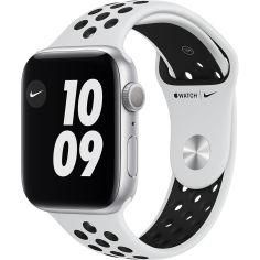 Акция на Смарт-часы APPLE Watch Nike S6 GPS 44 Silver Alum Platinum/Black (MG293UL/A) от Foxtrot