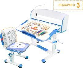 Акция на Комплект Evo-Kids BD-10 BL Стул + стол + полка + лампа (BD-10 BL с лампой) от Rozetka