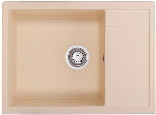 Акция на Кухонная мойка GRANADO Linares ivory (0804) + сифон одинарный для кухонной мойки Nova от Rozetka