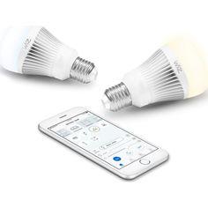 Акция на Лампа светодиодная WiZ Connected WiZ60 WiFi ССТ E27 11W 806lm 2700K-6500K (WZ0126072) от Allo UA