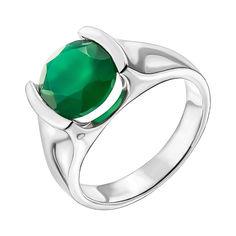 Серебряное кольцо с агатом 000137394 18.5 размера от Zlato