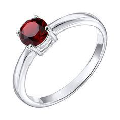Серебряное кольцо с гранатом 000137407 16 размера от Zlato