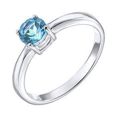 Серебряное кольцо с топазом 000137597 17.5 размера от Zlato