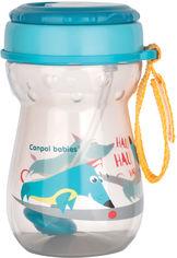 Акция на Спортивный поильник Canpol Babies со складывающейся силиконовой трубочкой с утяжелителем 350 мл (5903407565187) (56/518) от Rozetka
