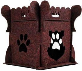 Акция на Домик-лежак для собак и кошек Фортнокс FX Home Крепость 30х30х40 см Бордовый (2820000012111) от Rozetka
