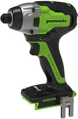 Акция на Ударный аккумуляторный винтоверт Greenworks GD24ID3 (3802807) от Rozetka
