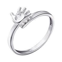 Серебряное кольцо с фианитами 000141191 18 размера от Zlato