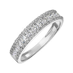 Кольцо из белого золота с бриллиантами 000141508 17 размера от Zlato
