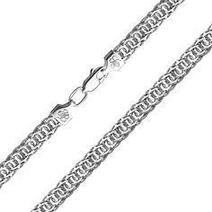 Серебряный браслет в плетении королевский бисмарк 000133680 23 размера от Zlato