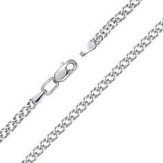 Серебряный браслет с алмазной гранью, 2мм 000124422 от Zlato