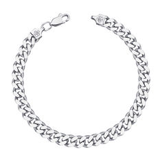 Серебряный браслет с алмазной гранью 000121465, 4мм от Zlato