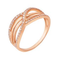 Кольцо в красном золоте Элина с фианитами 19 размера от Zlato