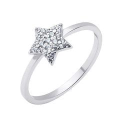 Серебряное кольцо с усыпкой из фианитов 000117783 17 размера от Zlato