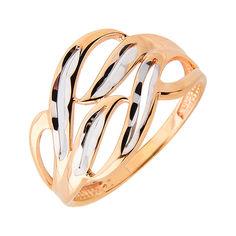 Золотое кольцо в комбинированном цвете с алмазной гранью 000113465 от Zlato