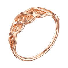 Золотое кольцо с завитками и насечкой 000006505 от Zlato