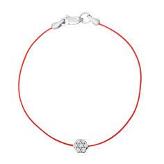 Шелковый браслет с серебряной вставкой и застежкой 000118134 от Zlato