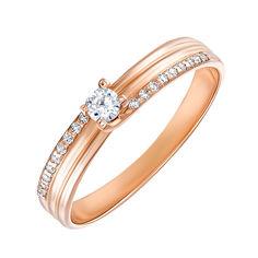 Кольцо из красного золота с фианитами 000135728 16.5 размера от Zlato