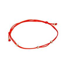 Шелковый браслет Интуиция в красном золоте 000079657 24 размера от Zlato