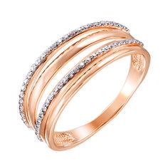 Золотое кольцо Ефимия в комбинированном цвете с дорожками фианитов 18.5 размера от Zlato