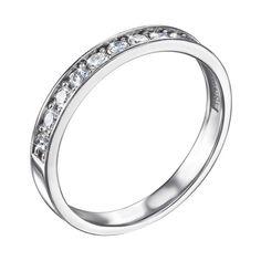 Кольцо из белого золота с бриллиантами 000136581 17 размера от Zlato