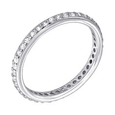 Кольцо из белого золота с фианитами 000122177 16 размера от Zlato