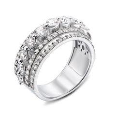 Кольцо из белого золота с бриллиантами 000136502 17 размера от Zlato