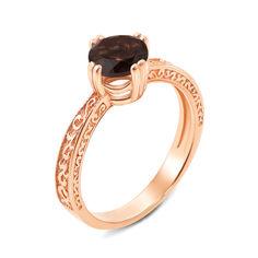 Кольцо из красного золота с раухтопазом 000136047 17.5 размера от Zlato