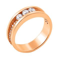 Кольцо из красного золота с бриллиантами 000136691 16.5 размера от Zlato