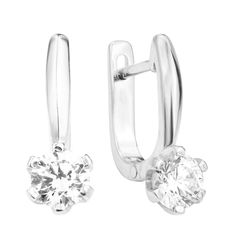 Серебряные серьги с кристаллами Swarovski 000125474 от Zlato