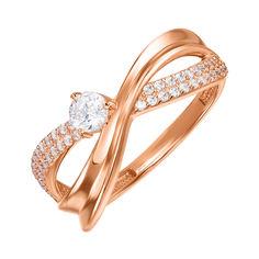 Кольцо из красного золота с фианитами 000137751 16 размера от Zlato