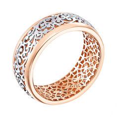 Золотое кольцо в комбинированном цвете 000138743 18 размера от Zlato