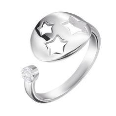 Серебряное кольцо с цирконием 000122459 б/р размера от Zlato