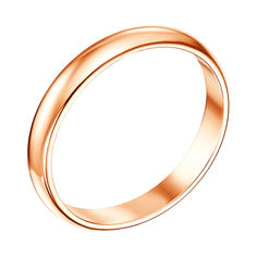 Обручальное кольцо из красного золота 000007372 19.5 размера от Zlato