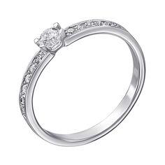 Серебряное кольцо с кристаллами циркония 000118367 15 размера от Zlato